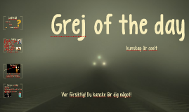 Grej of the day - Lucia