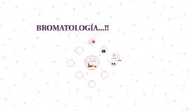BROMATOLOGIA...!!