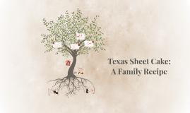 Texas Sheet Cake: