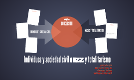 Copy of Individuos y sociedad civil o masas y totalitarismo