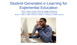 Student-Generated e-Learning for Experiential Education