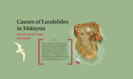 Causes of Landslides in Malaysia