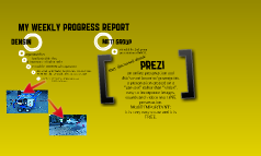 My Weekly Progress Report