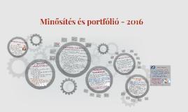 Minősítés és portfólió - 2016