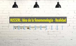 Fenomenologia y Realidad