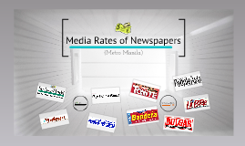 Copy of Media Rates of Newspapers