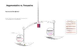 Argumentative vs. Persuasive