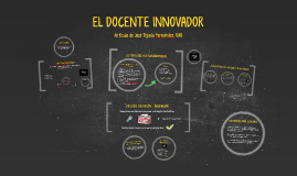 Copy of El docente innovador