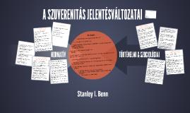 Benn - A szuverenitás jelentésváltozatai