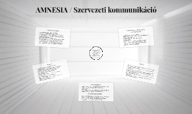 AMNESIA / Belső kommunikációs terv