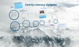 Family Literacy Updates 12-10-12