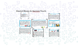 Mental Illness In Sarnia's Youth