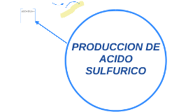 PRODUCCION DE ACIDO SLFURICO