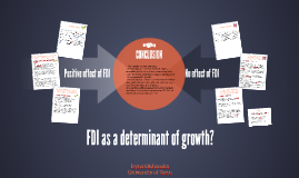 FDI as a determinant of growth?