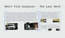 Short Film Analysis