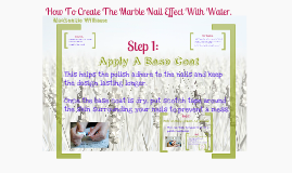 How To Create The Marble Nail Effect With Water.