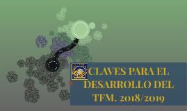 CLAVES PARA EL DESARROLLO DEL TFM. 2016/2017