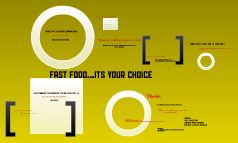 FAST FOOD...It's your choice