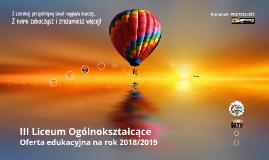 Oferta edukacyjna  (wersja automatyczna pełna) Oferta na rok 2018/2019  III Liceum Ogólnokształcące w Brodnicy