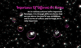 Copy of IMPORTANCE OF DIFFERENT ART FORMS