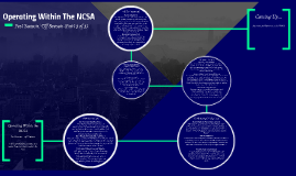 Operating Within The NCSA