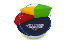 Coeficientes de Validación de Aiken