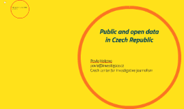Public and open data in Czech Republic
