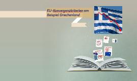 EU-Konvergenzkiterien am Beispiel Griechenland