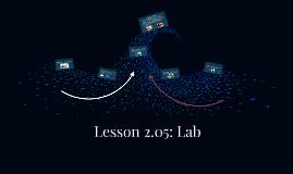 Lesson 2.05: Lab