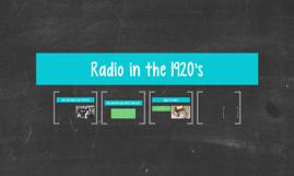 Radio in the 1920's