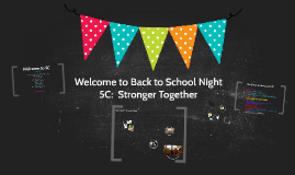 Copy of Welcome t Back to School Night