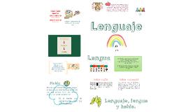 Lenguaje, lengua y habla.