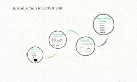 CRWR 240 W1