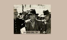 LA CRISI DEL'29