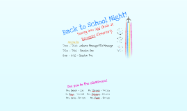 Copy of Back to School Night - 2nd Grade