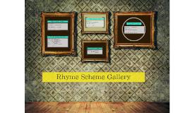 Rhyme Scheme Gallery