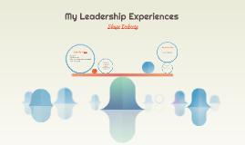 Copy of My Leadership Experience So Far