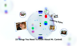 10 Things About Mr. Cantrell