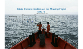 Crisis Management on the missing of flight MH370