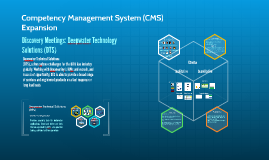 Competency Management System Expansion: Discovery Meeting