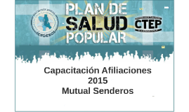 Capacitación Afiliaciones 2015