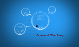 Elements of a Cause and Effect essay