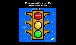 Copy of ER vs. Urgent Care vs. PCP: Know When to Go!