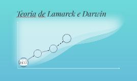 Teoria de Lamarck e Darwin