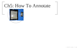 CP Ch5: How To Annotate