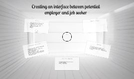 Creating an interface between potential employer and job see