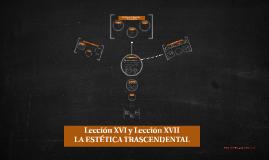 Lección XVI y Lección XVII