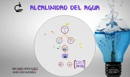 ALCALINIDAD DEL AGUA