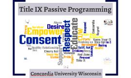 Title IX Passive Programming