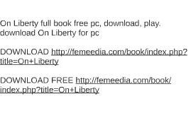 On Liberty full book free pc, download, play. download On Li